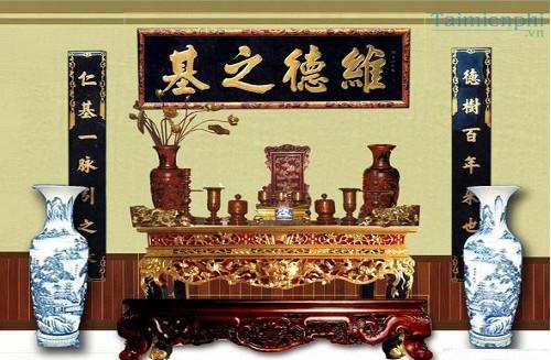 Văn khấn bài cúng chuyển bàn thờ gia tiên sang vị trí khác trong nhà