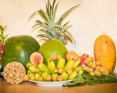 cách xếp hoa quả thắp hương